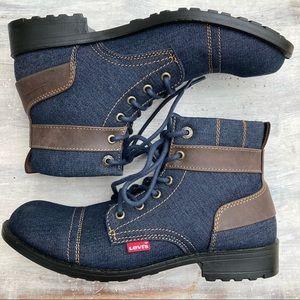 Levi's Denim Ankle Boots 8